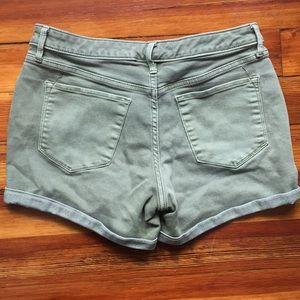 Mossimo Supply Co. Shorts - Olive Green Mid Rise Midi Shorts